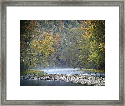 1010-3979 Buffalo River Boxley Valley Fall Framed Print by Randy Forrester
