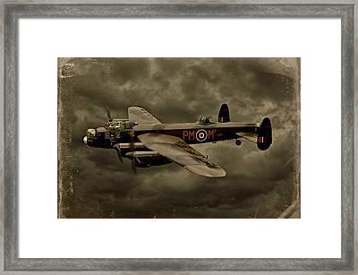 103 Squadron Avro Lancaster Framed Print by Steven Agius