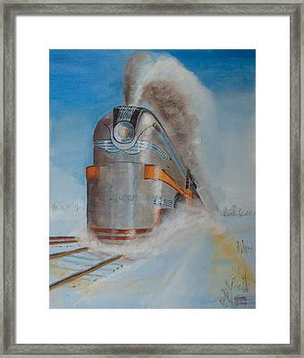 104 Mph In The Snow Framed Print by Christopher Jenkins