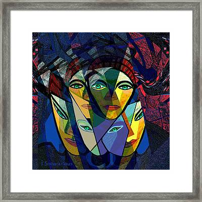 106 - Cubic Women  Framed Print by Irmgard Schoendorf Welch