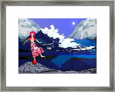 1089 - Dance Of Life ... Framed Print by Irmgard Schoendorf Welch