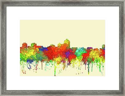 Albuquerque New Mexico Skyline Framed Print by Marlene Watson