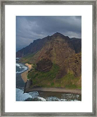 Kauai Shoreline Framed Print by Steven Lapkin