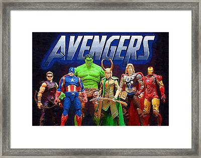 Legion Superheroes Framed Print by Egor Vysockiy