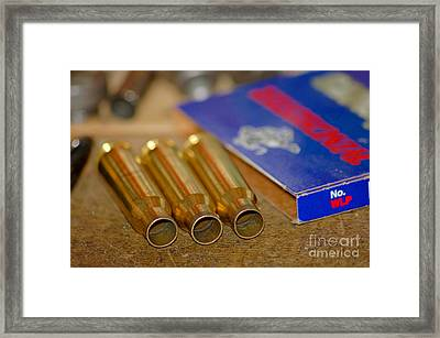 Reloading Framed Print by Elizabeth Stone