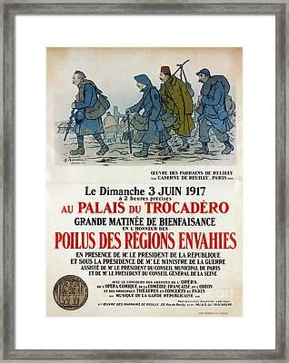 World War I: French Poster Framed Print by Granger