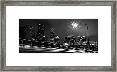 110 Freeway Los Angeles Framed Print by April Reppucci