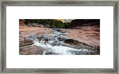 1153 Slide Rock State Park - Sedona, Arizona Framed Print by Steve Sturgill