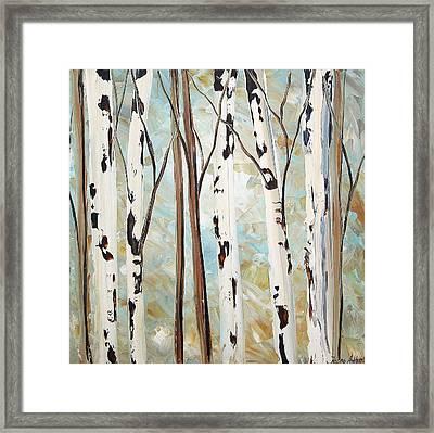 Abstract Landscape Framed Print by Jolina Anthony