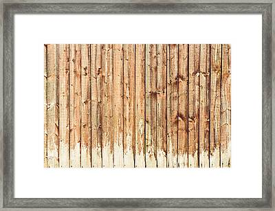 Fence Panels Framed Print by Tom Gowanlock