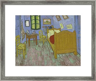 The Bedroom Framed Print by Vincent Van Gogh