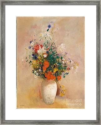 Vase Of Flowers  Framed Print by Celestial Images