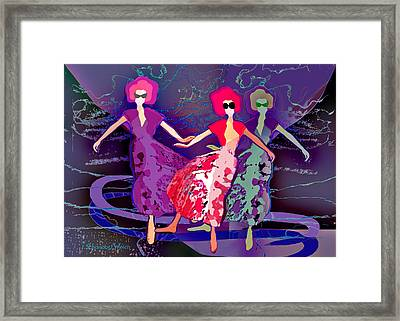 1227 - Dance Of Life Framed Print by Irmgard Schoendorf Welch