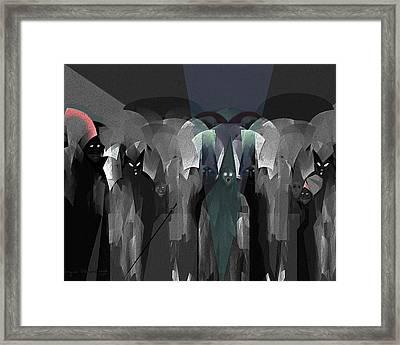 127 -  Nightwalkers Dark Framed Print by Irmgard Schoendorf Welch