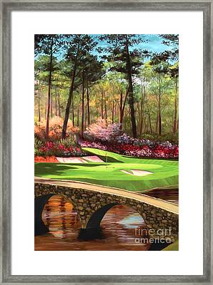 12th Hole At Augusta Ver Framed Print by Tim Gilliland