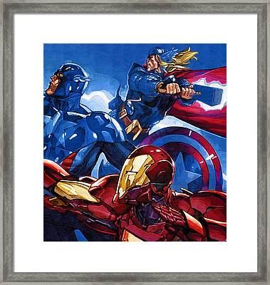 Avengers The Drawing Framed Print by Egor Vysockiy