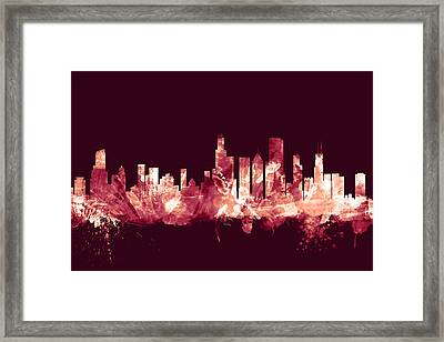 Chicago Illinois Skyline Framed Print by Michael Tompsett