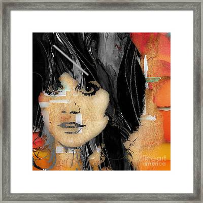 Linda Ronstadt Collection Framed Print by Marvin Blaine