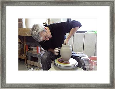 Pottery Wheel, Sequence Framed Print by Ted Kinsman