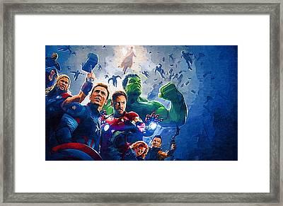 Superheroes Legion Framed Print by Egor Vysockiy
