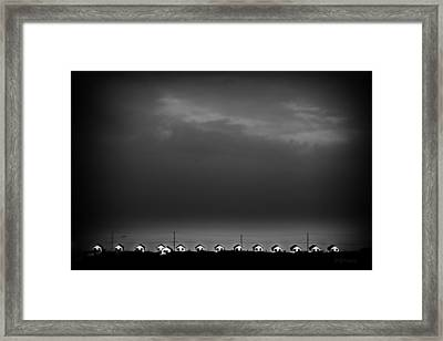 14 Houses And One Boat Framed Print by Dapixara Art