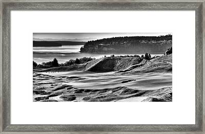 #14 Panorama - Chambers Bay Golf Course Framed Print by David Patterson