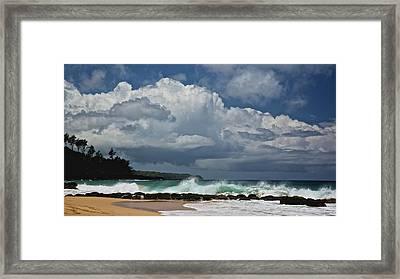 Secret Beach Kauai Framed Print by Steven Lapkin