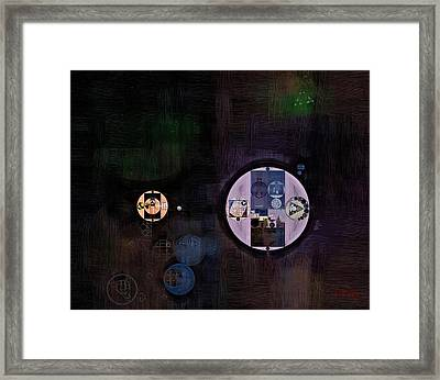Abstract Painting - Smoky Black Framed Print by Vitaliy Gladkiy