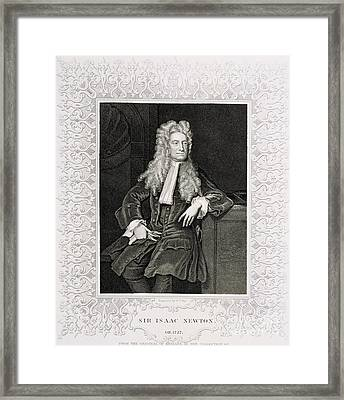 Isaac Newton, English Polymath Framed Print by Science Source