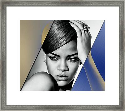 Rihanna Collection Framed Print by Marvin Blaine