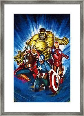 Superhero Framed Print by Egor Vysockiy