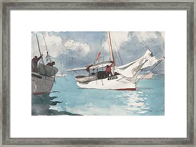 Fishing Boats Framed Print by MotionAge Designs