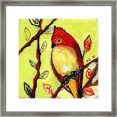 16 Birds No 3 Framed Print by Jennifer Lommers