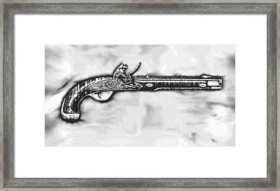 16 Century Black Powder Pistol Framed Print by Robert G Jerore
