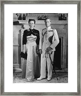 Duchess Of Windsor Wallis Simpson Framed Print by Everett