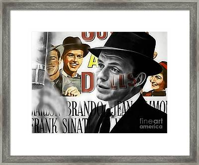 Frank Sinatra Collection Framed Print by Marvin Blaine