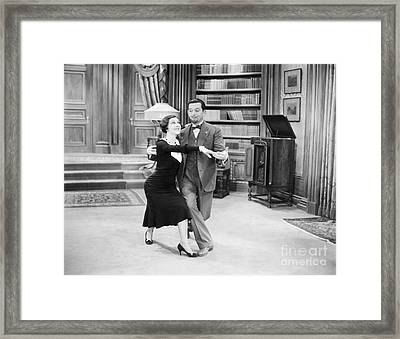 Silent Film Still: Dancing Framed Print by Granger