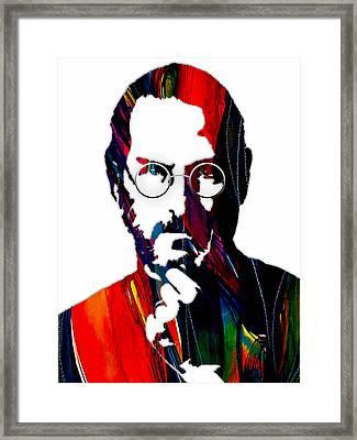 Steve Jobs Collection Framed Print by Marvin Blaine