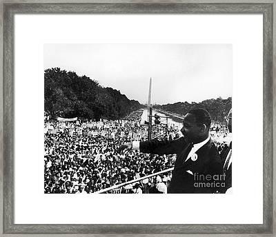Martin Luther King, Jr Framed Print by Granger