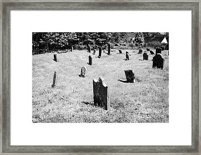 17th And 18th Century Headstones In Tydavnet Old Cemetery County Monaghan Republic Of Ireland Framed Print by Joe Fox