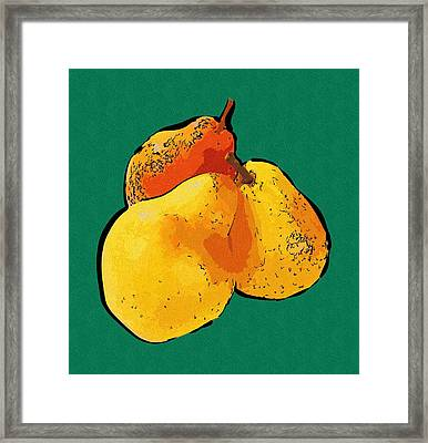 Pears Art Picture Framed Print by Michael Vicin