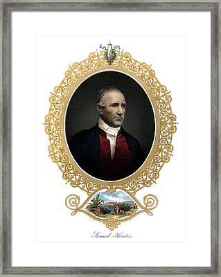 1850 Sam Houston  Framed Print by Historic Image