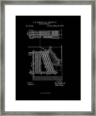 1867 Steam Generator Patent Drawing Framed Print by Steve Kearns