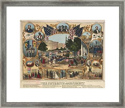 1870 Print Illustrating The Rights Framed Print by Everett