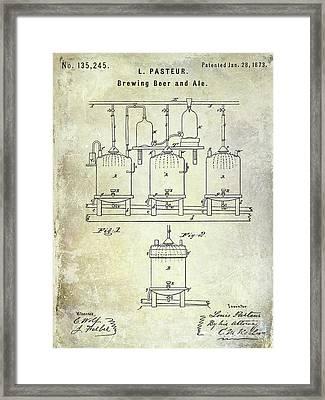 1873 Beer Patent Framed Print by Jon Neidert