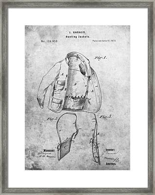 1873 Hunting Jacket Patent Framed Print by Dan Sproul