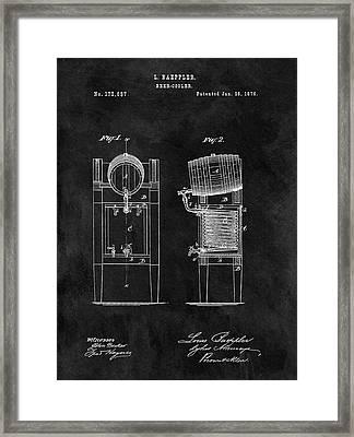 1876 Beer Cooler Framed Print by Dan Sproul