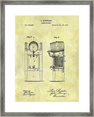 1876 Beer Cooler Patent Framed Print by Dan Sproul