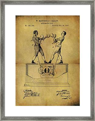 1876 Boxing Toy Patent Framed Print by Dan Sproul