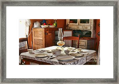 1880 Table Setting  8381 Framed Print by Jack Schultz